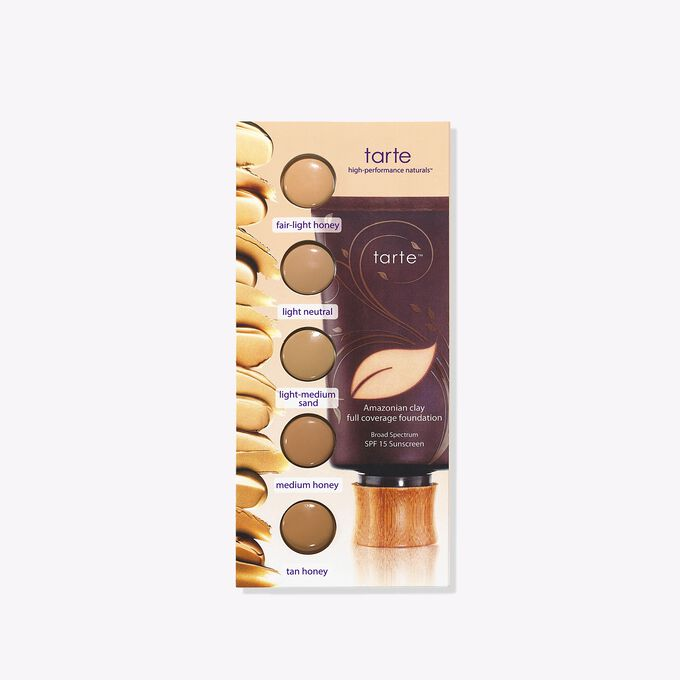 Amazonian clay full coverage foundation SPF 15 blister card