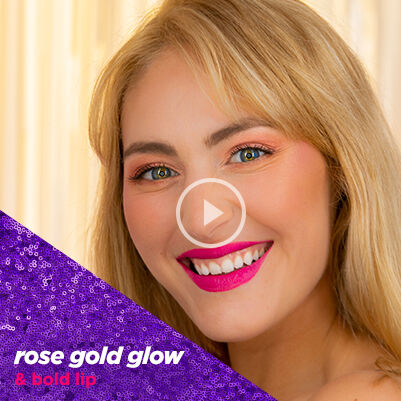 rose gold glow & bold lip - category banner