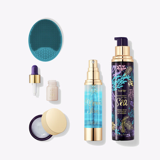 mermaid staycation hydrating skincare set