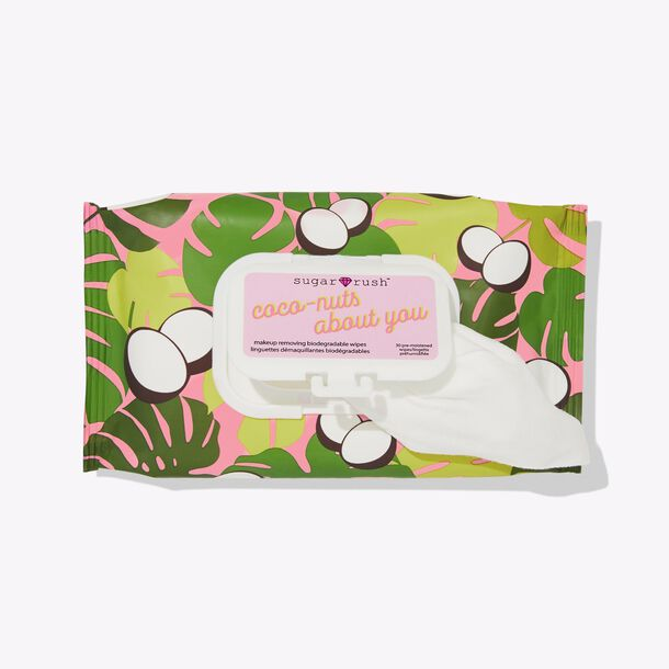 sugar rush™ coco-nuts about you makeup removing biodegradable wipes