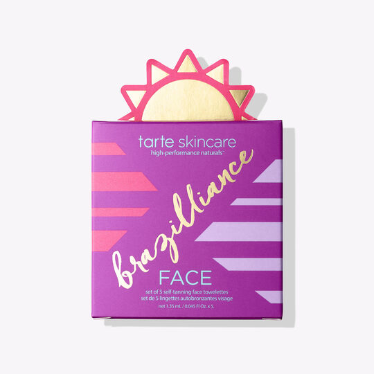 brazilliance self-tanning face towelettes package