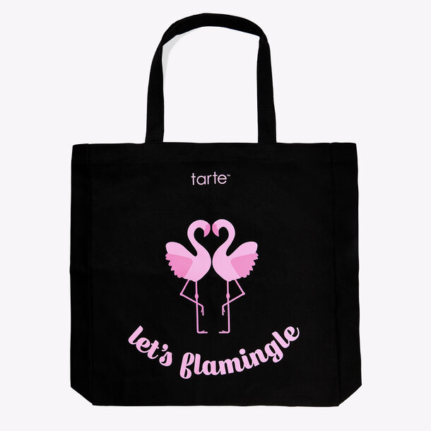 let's flamingle tote bag
