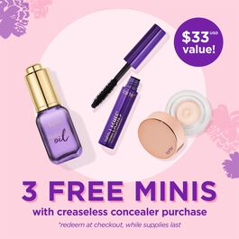 custom creaseless concealer 4 piece value set