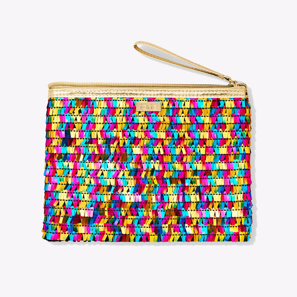 multi-color sequin bag