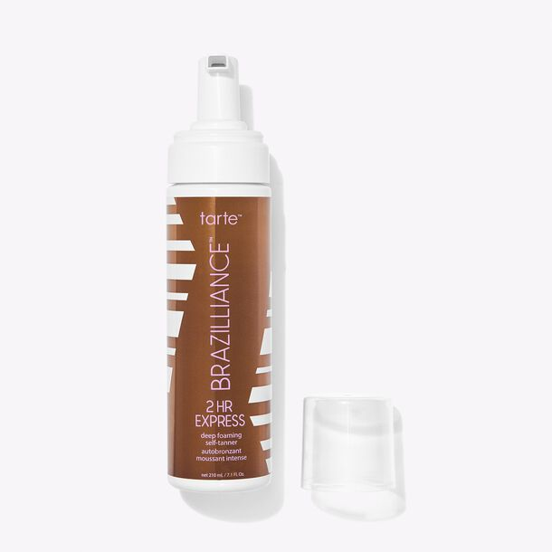 limited-edition Brazilliance™ 2HR express deep foaming self-tanner