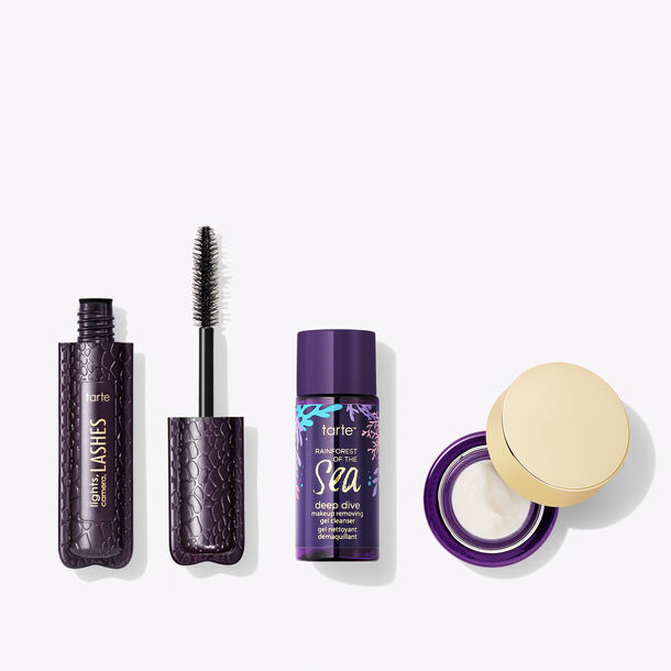 mascara & skincare travel-size trio
