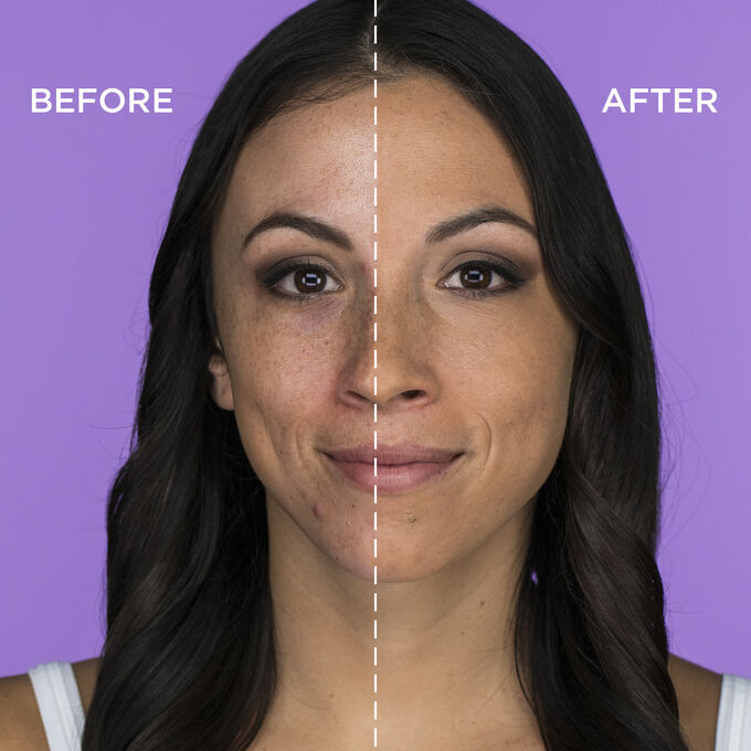 5a9dfede0e shape tape matte foundation. full coverage matte foundation medium tan  honey shade before and after