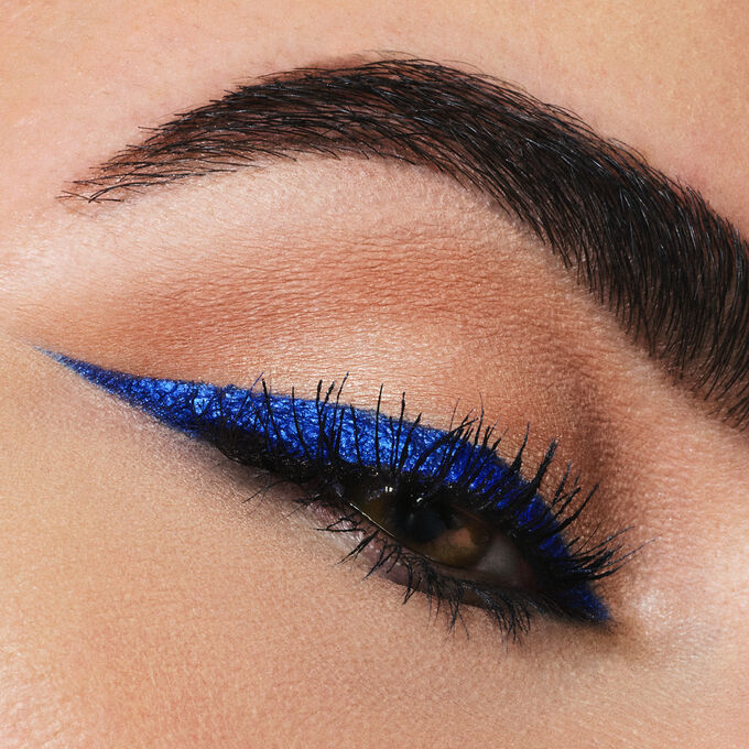 Eyelook Using Cobalt Blue Iconic Budgeproof Gel Eyeliner that Doubles as a Creamy Eyeshadow