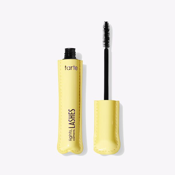 tarte sugar rush™ lights, camera, lashes 4-in-1 mascara™ yellow packaging