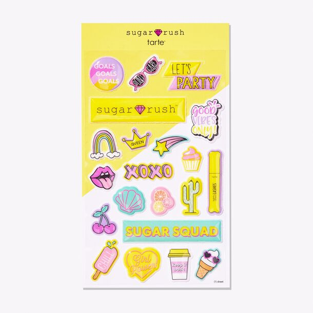 sugar rush™ sugar sticks puffy stickers