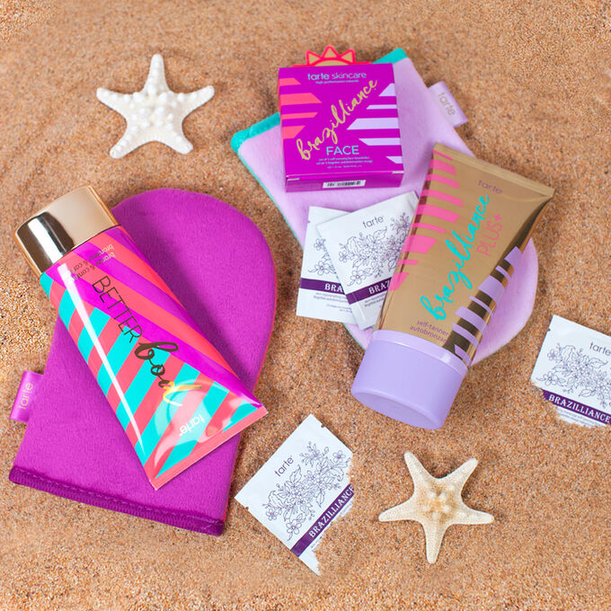 better bod body bronzer on sand with other bronzers