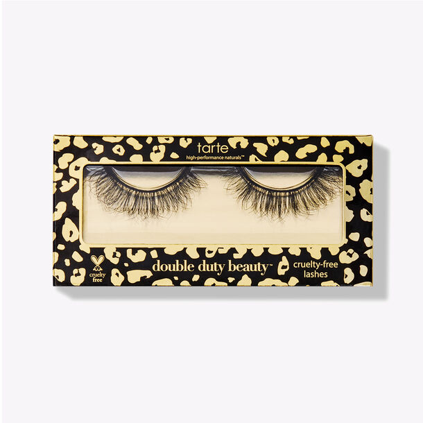 thick large black cruelty-free false lashes