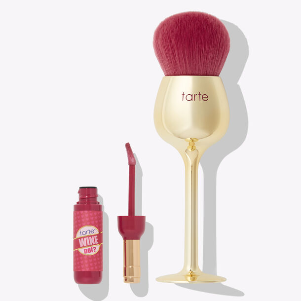wine not lip gloss & brush set