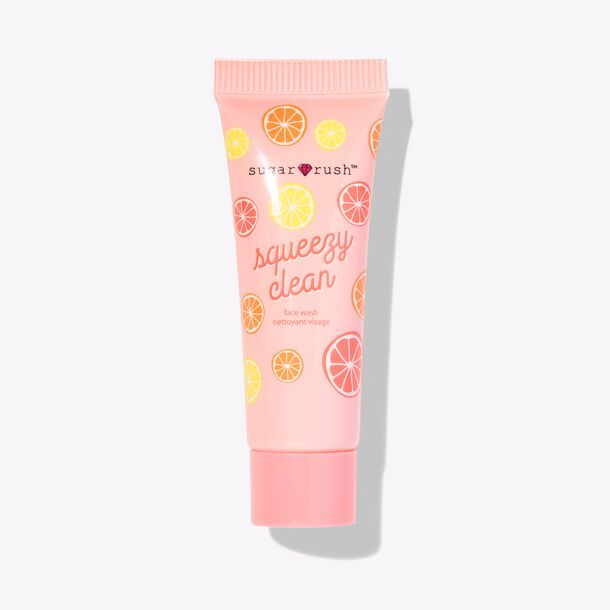 deluxe mini sugar rush™ squeezy clean facial cleanser