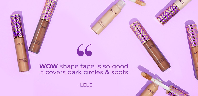 Lele - wow, shape tape is so good. It covers dark circles & spots