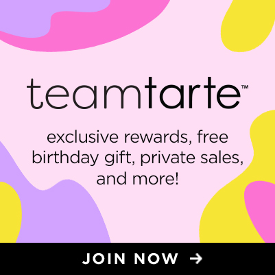 team tarte. exclusive rewards, free birthday gift, private sales and more! - grid slot