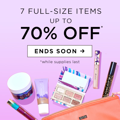 7 full-size items up to 70% off. ends soon. while supplies last