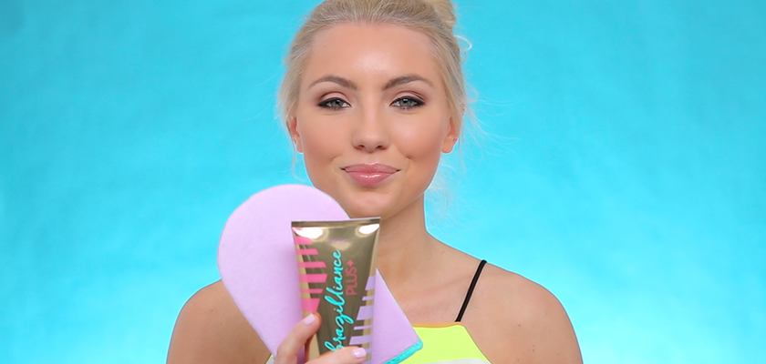 get bronzed: Brazilliance™ PLUS+ self tanner with leigh